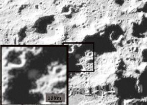 La NASA confirma la presencia de agua en un cráter lunar