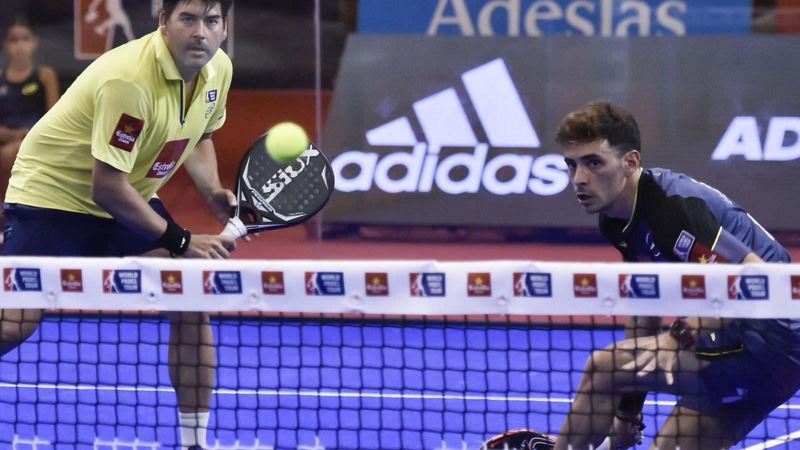 Foto: Stupazuk y Gutiérrez, durante su partido de cuartos. (EFE)