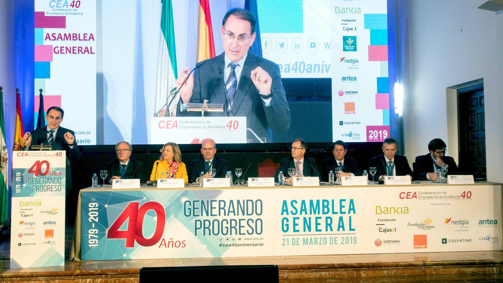 Foto: Acto de celebración de los 40 años en Antequera. (CEA)