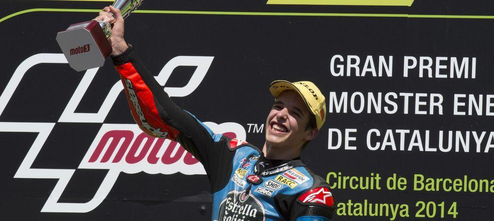 Foto: Àlex Márquez celebra su primera victoria de la temporada (Team Estrella Galicia).