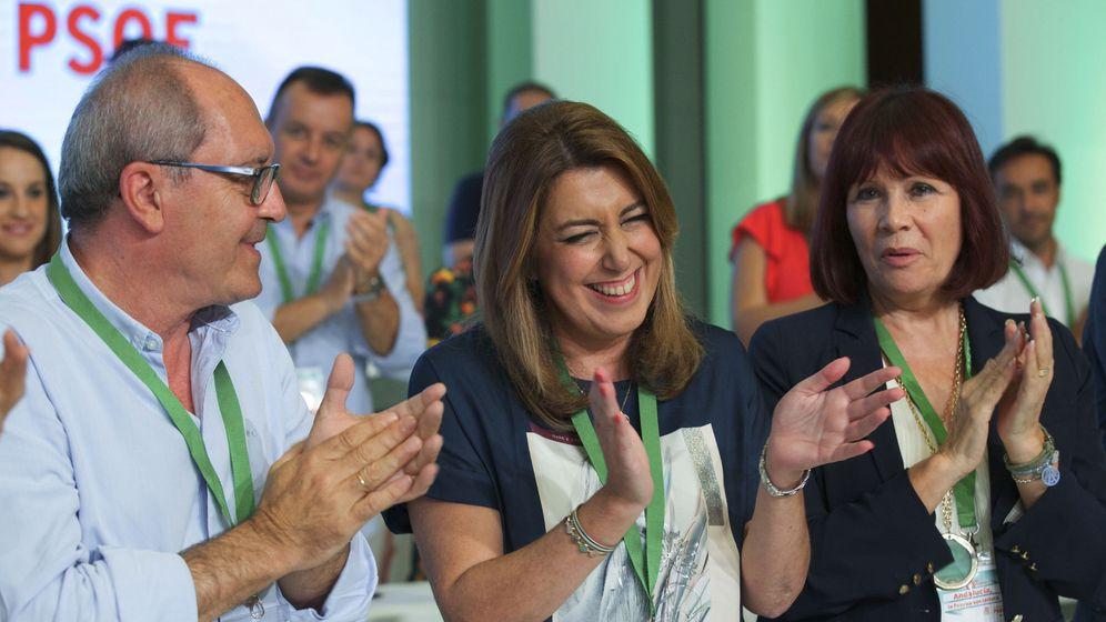 Foto: La presidenta andaluza, Susana Díaz, durante el Congreso del PSOE Andaluz. (EFE)