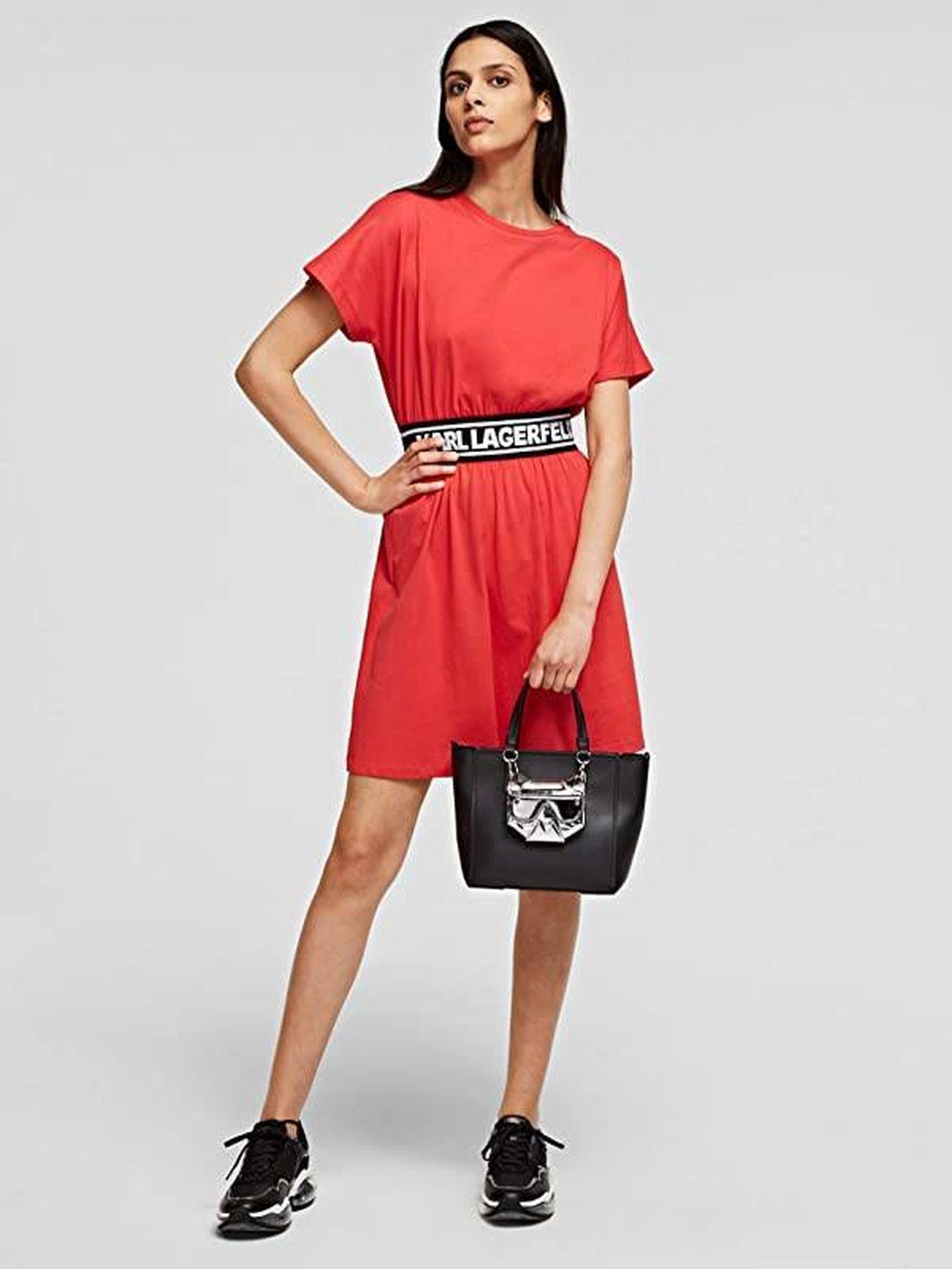 Vestido de Karl Lagerfeld. (Cortesía)