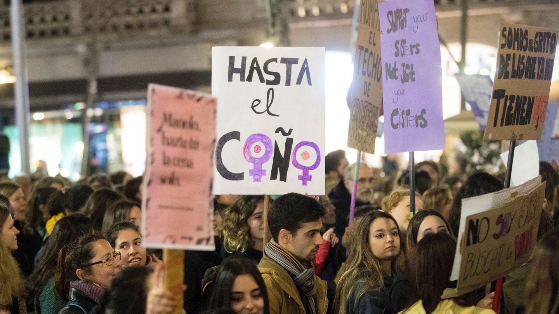 Manifestación feminista en Barcelona el 8 de marzo de 2019. (EFE)