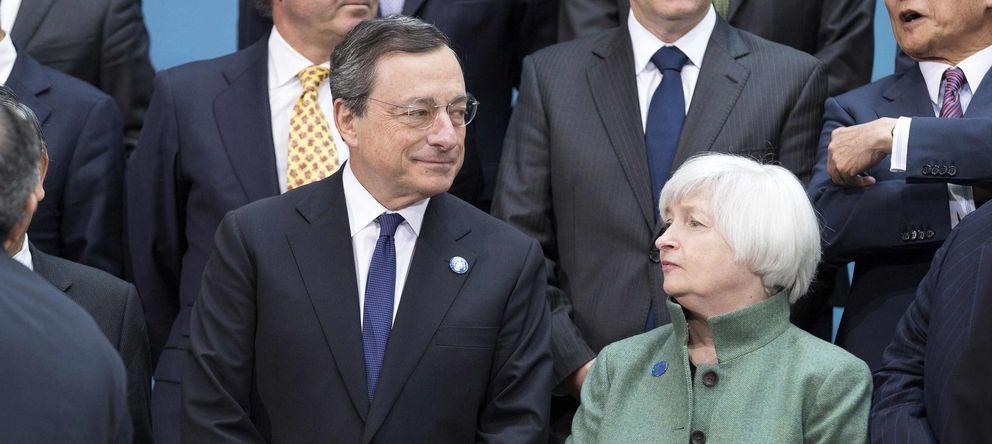 Foto: Mario Draghi y Jenet Yellen, durante una reunión del G-20