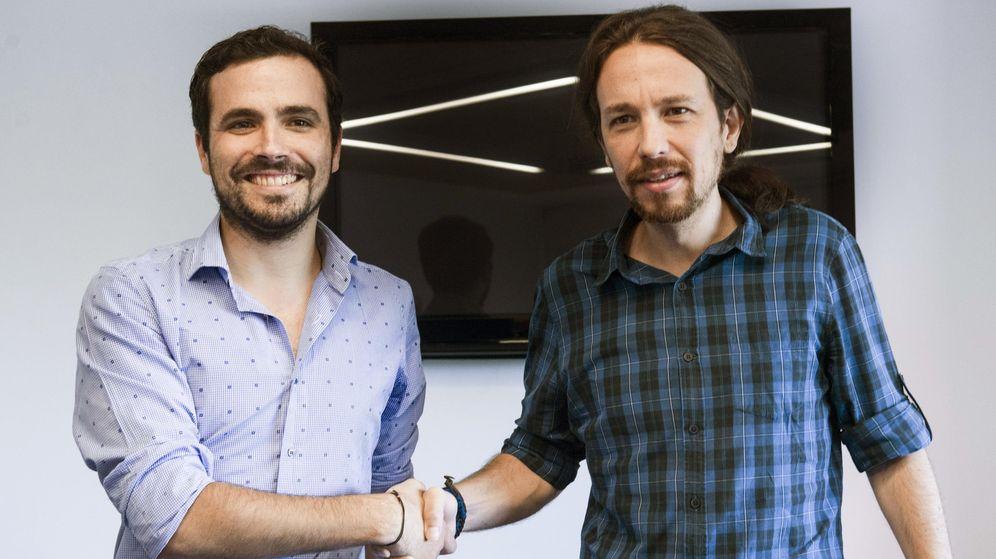 Foto: Alberto Garzón y Pablo Iglesias. (EFE)