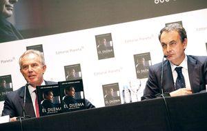 Con Blair y sin Solbes: Zapatero se viene arriba tras dos años de purgatorio