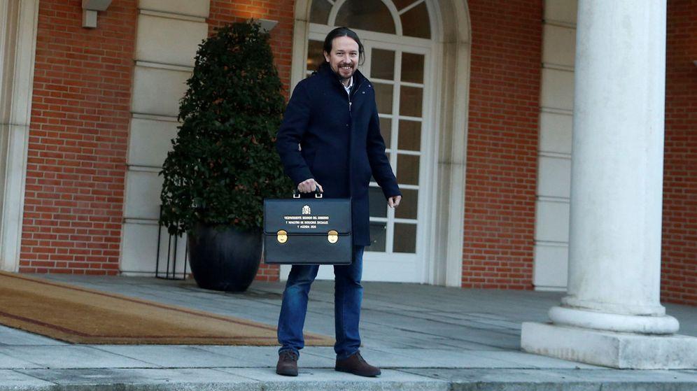 Foto: Pablo Iglesias en su primer Consejo de Ministros. (EFE)