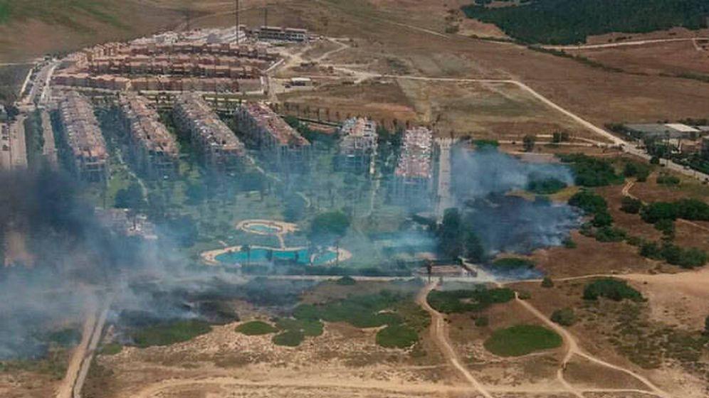 Foto: Imágenes del incendio desde un helicóptero. (Infoca)