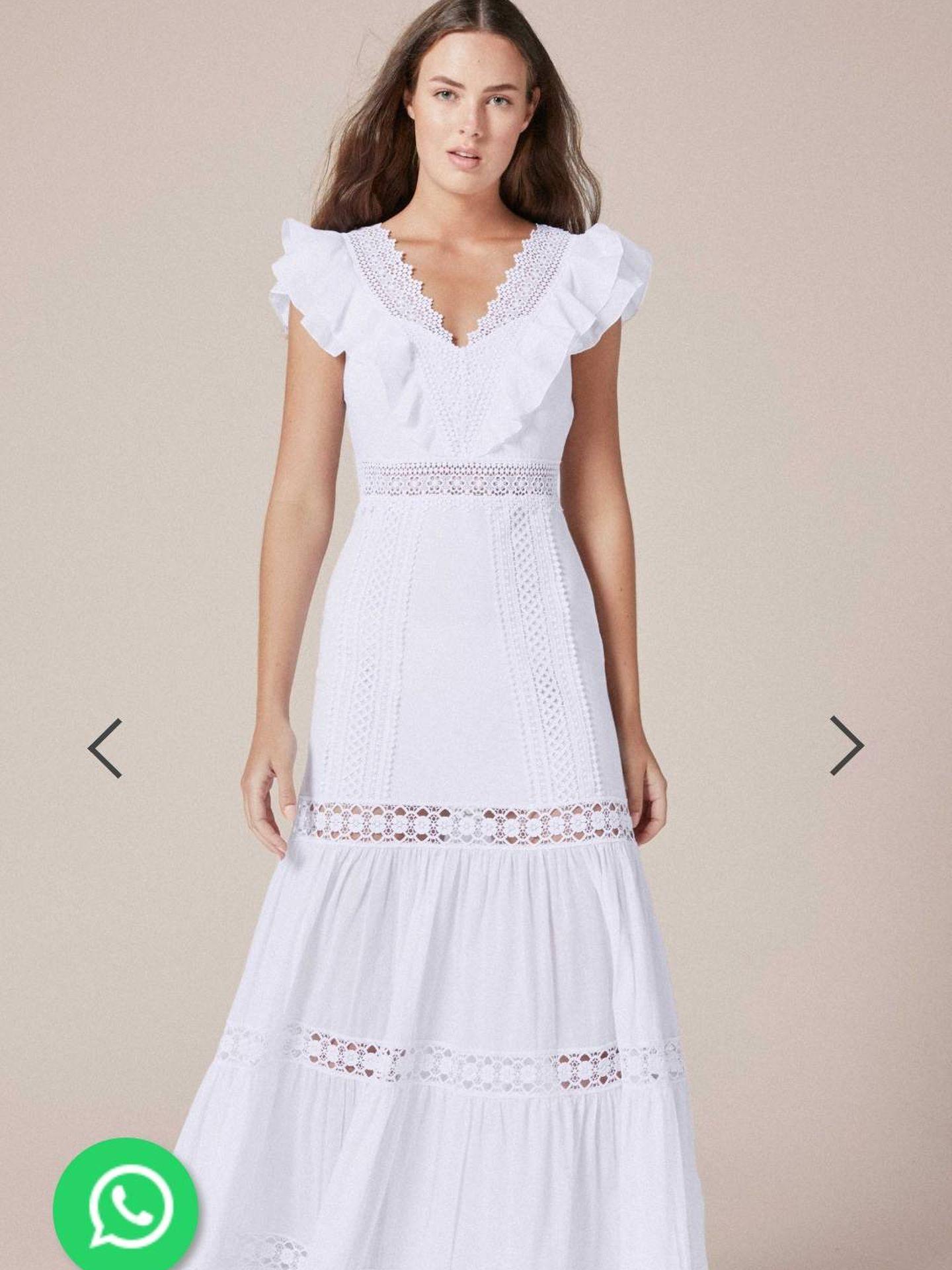 El vestido de la reina.