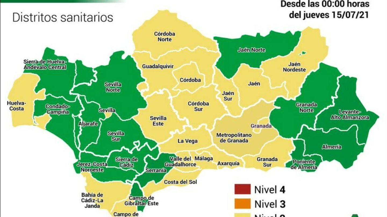 Niveles 1 y 2 en Andalucía. Foto: Junta de Andalucía
