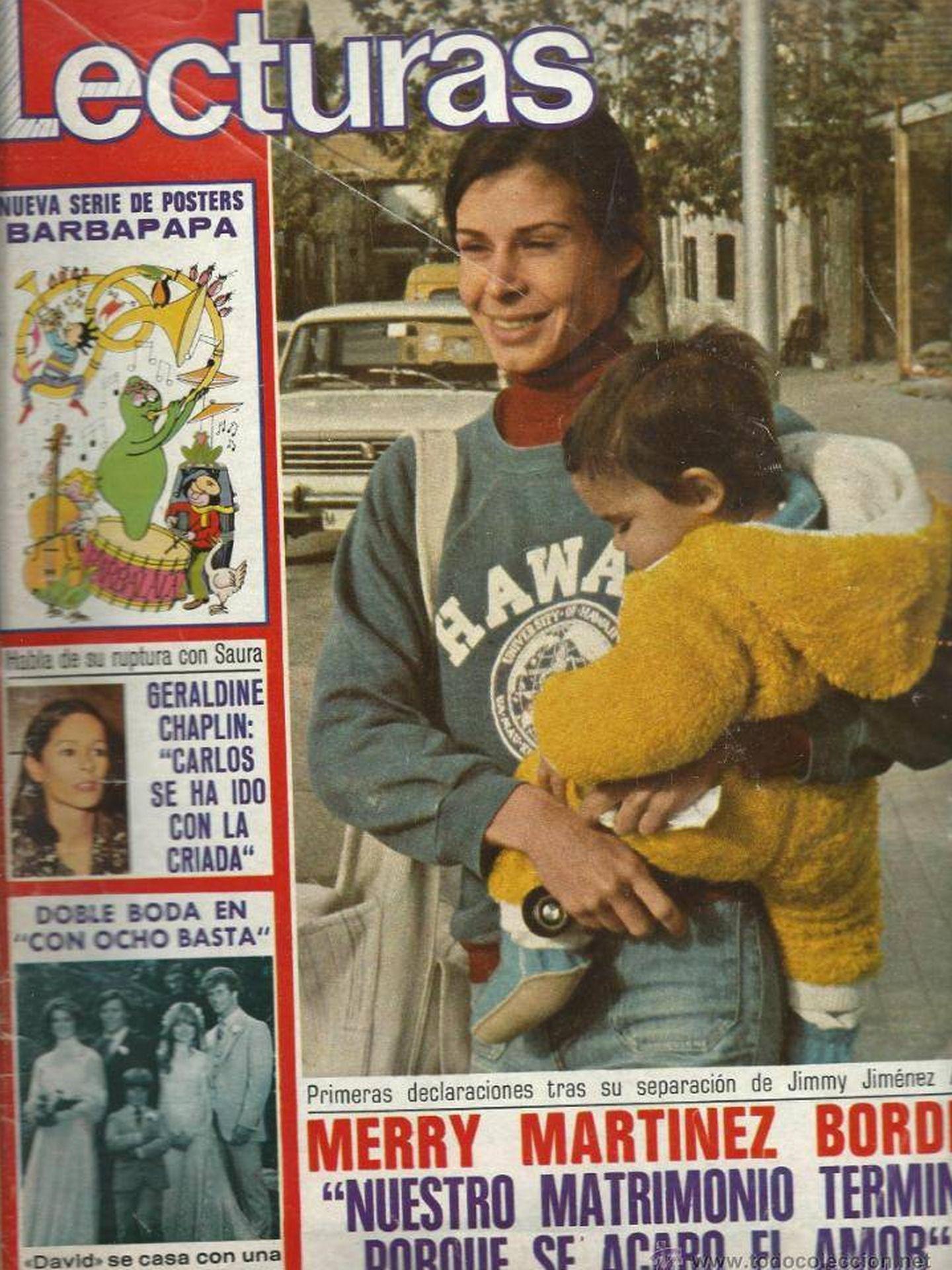 Merry martínez Bordiú, en la prensa de la época cuando anunció su divorcio