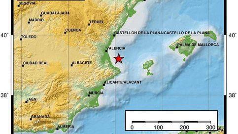 Un terremoto en el Golfo de Valencia se siente en varias poblaciones