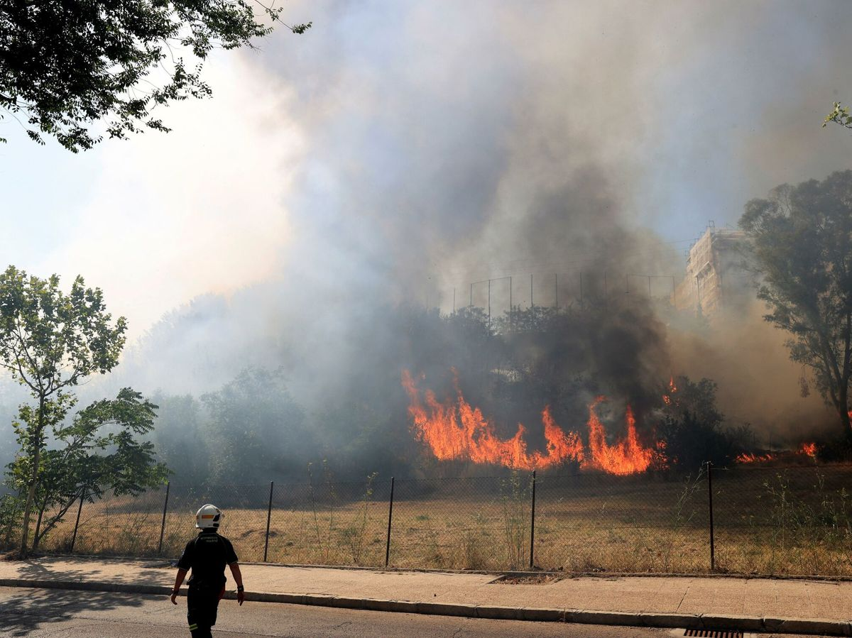 Foto: Incendio junto a la zona de ciudad universitaria en madrid