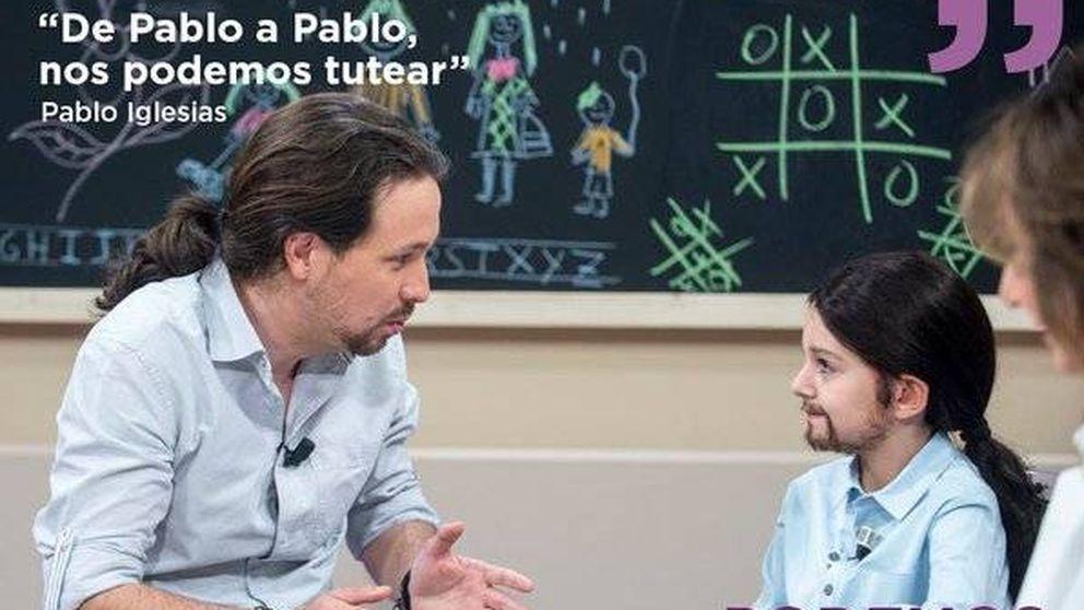 Pablo Iglesias, encantado con 'mini Pablo': piensa en contratarle si gana las elecciones