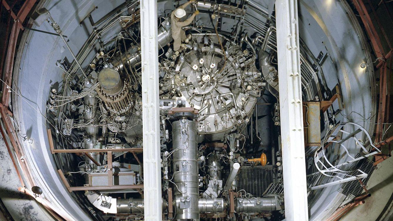 Foto: Un. reactor nuclear de torio visto desde arriba. (Reuters)