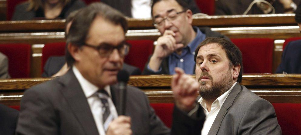 Foto: El presidente de la Generalitat, Artur Mas, y el de ERC, Oriol Junqueras. (EFE)