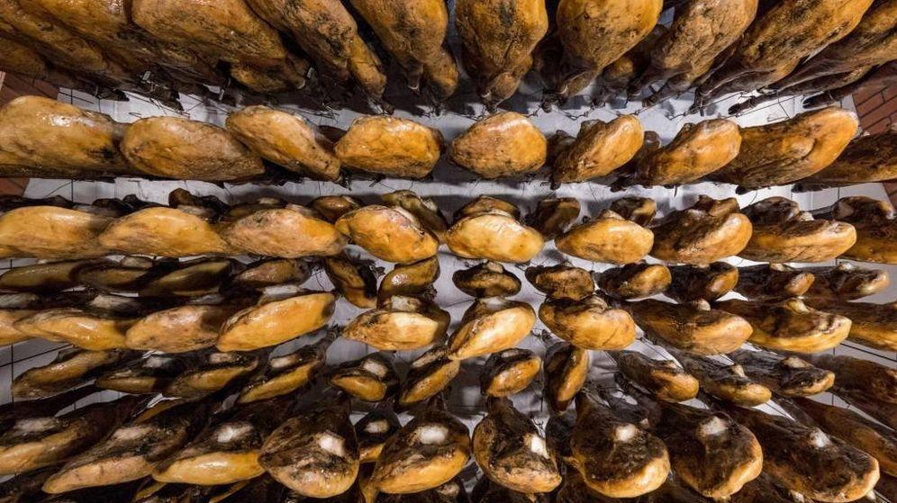 Foto: Piezas de jamón ibérico. (EC)