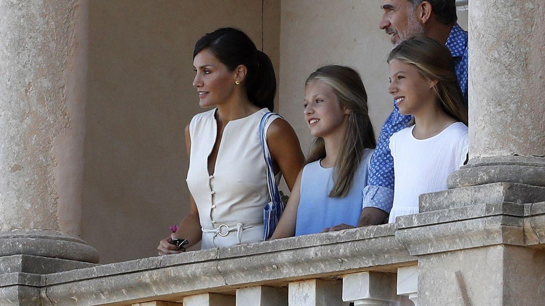 Los Reyes y sus hijas, en Mallorca en 2019. (EFE)