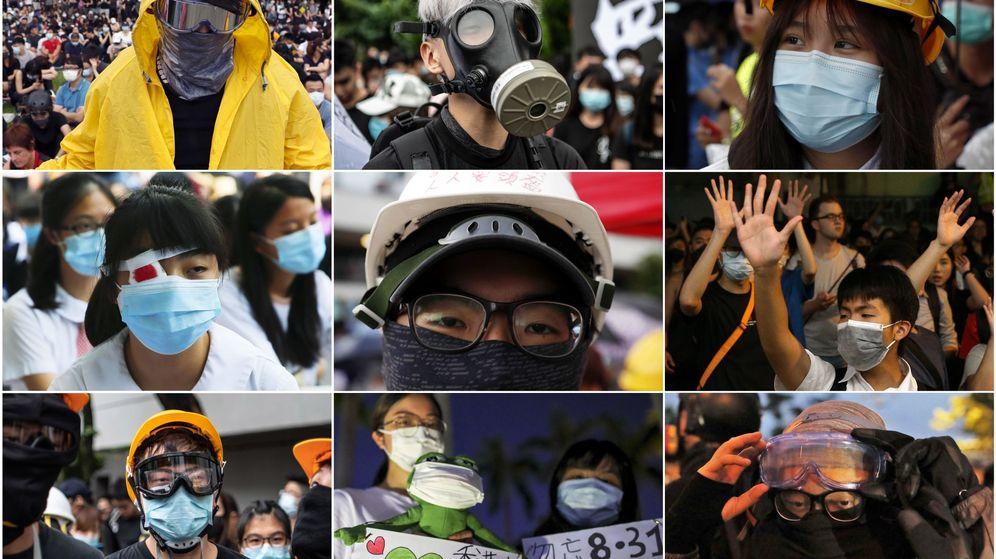 Foto: Máscaras en las protestas de Hong Kong. (EFE)