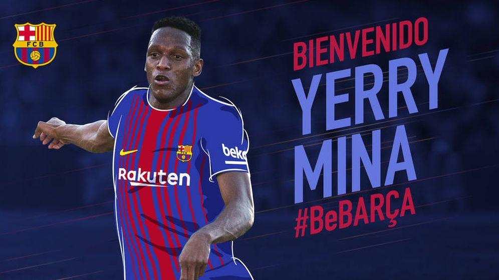 FC Barcelona: El baile de Yerry Mina: el show del nuevo fichaje del ...