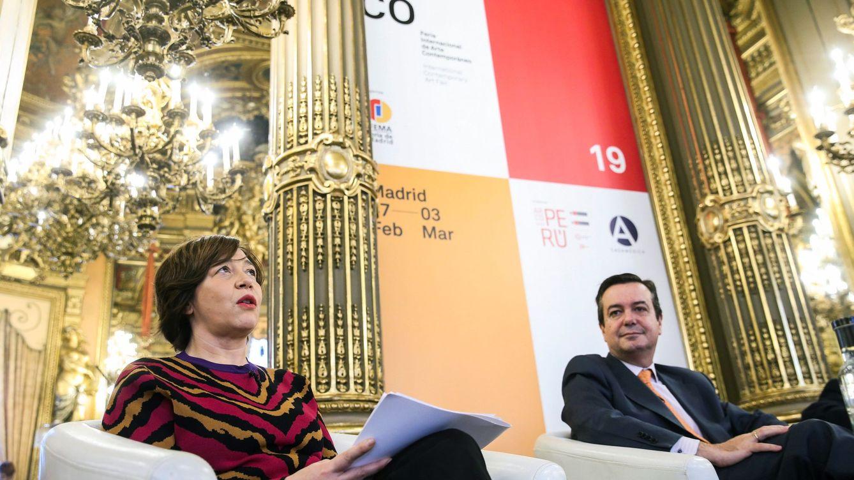 Foto: La directora de ARCO, Maribel Pérez, y el director general de Ifema en la presentación de ARCO 2019. (EFE)