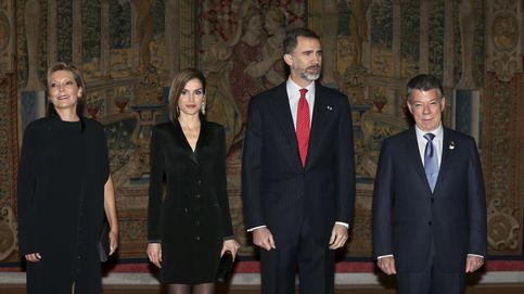 Los Reyes, Rajoy y el presidente Santos, a ritmo de vallenato en el palacio de El Pardo
