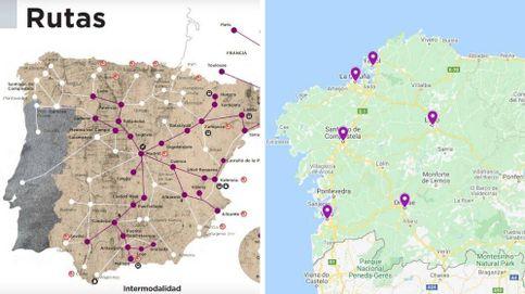 Renfe se inventa su propio mapa: Vigo es Portugal y Oporto pierde el mar