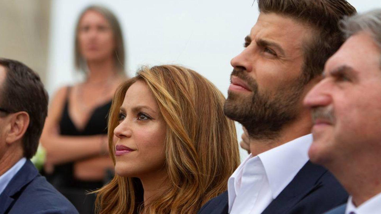 Piqué en la presentación de la Copa Davis, en Nueva York, junto a Shakira. (EFE)
