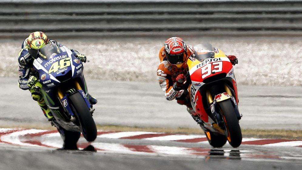 Foto: Rossi y Márquez en Sepang (Repsol Media).
