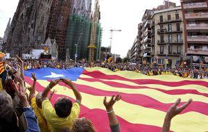 La cadena humana reúne menos independentistas que en 2012