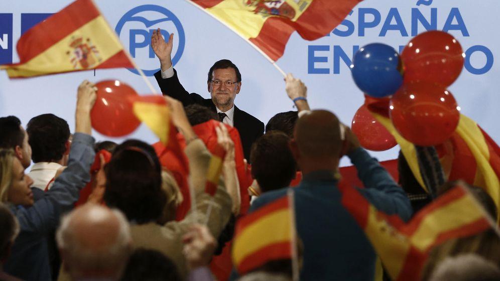 Foto: El presidente del Gobierno, Mariano Rajoy, durante un mitin electoral. (EFE)