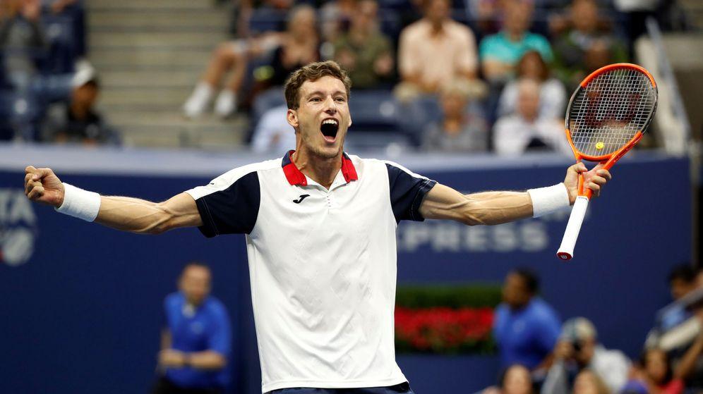 Foto: Pablo Carreño celebró así su triunfo ante Denis Shapovalov en los octavos de final del US Open. (Reuters)