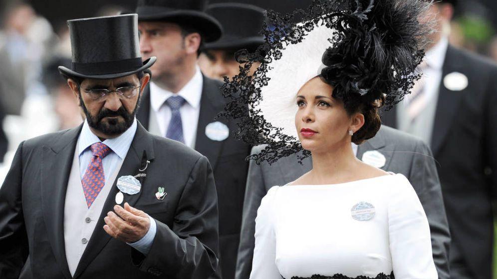 Foto: Haya de Jordania y el emir de Dubái, en una imagen de archivo. (Getty)
