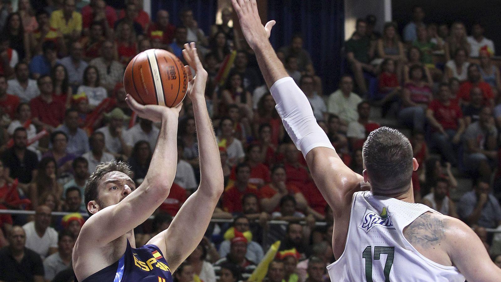 Foto: Gasol falló 8 de sus 12 lanzamientos (Daniel Pérez/EFE)