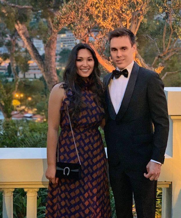 Foto: Louis Ducruet y su novia, en la boda de Carlota. (Instagram)