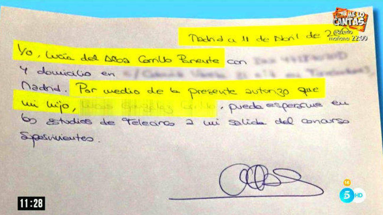 Alba Carrillo autoriza a su hijo a ir a recibirla a Mediaset.