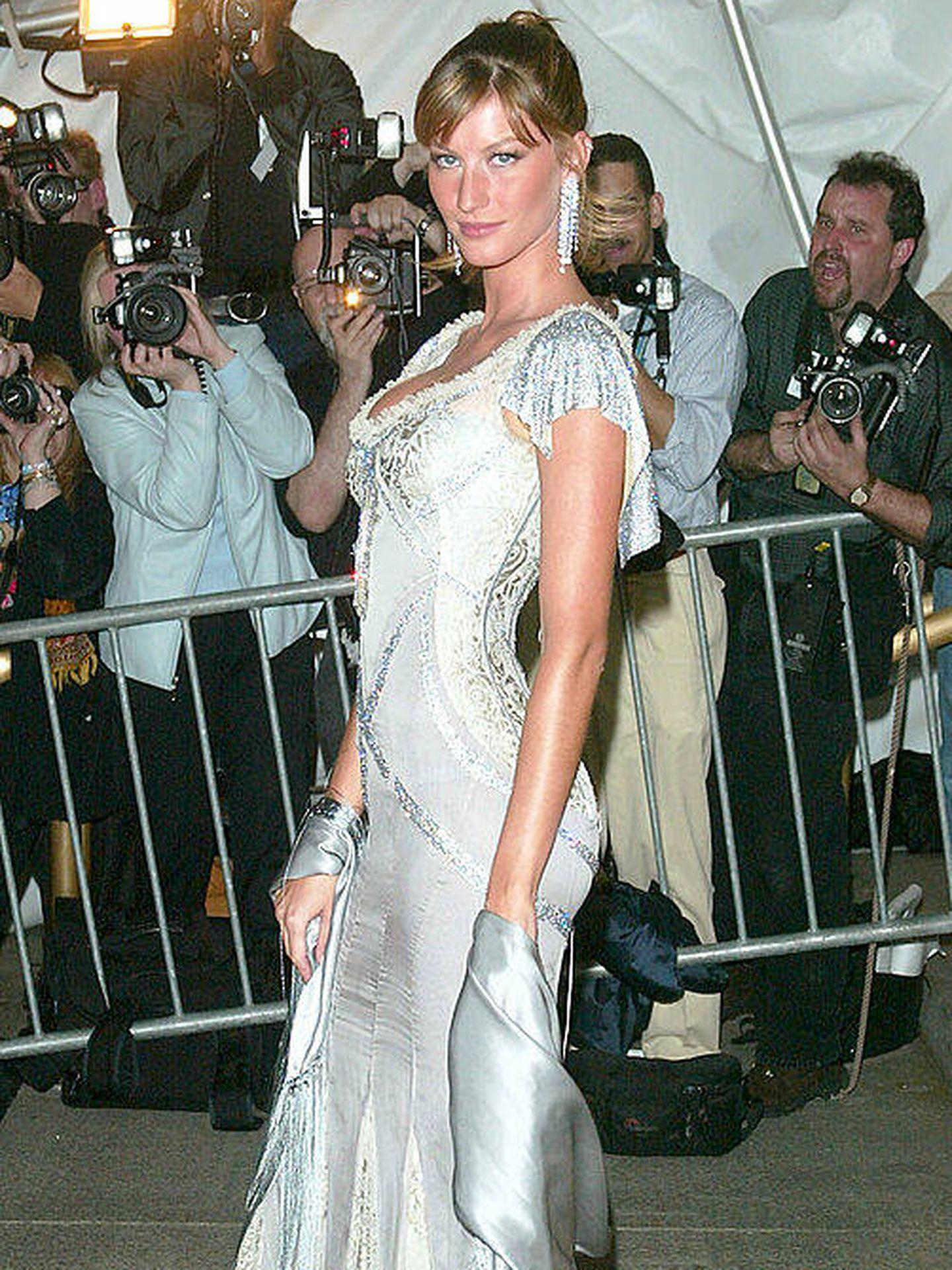 Gisele Bundchen, en la MET Gala 2003. (Getty)