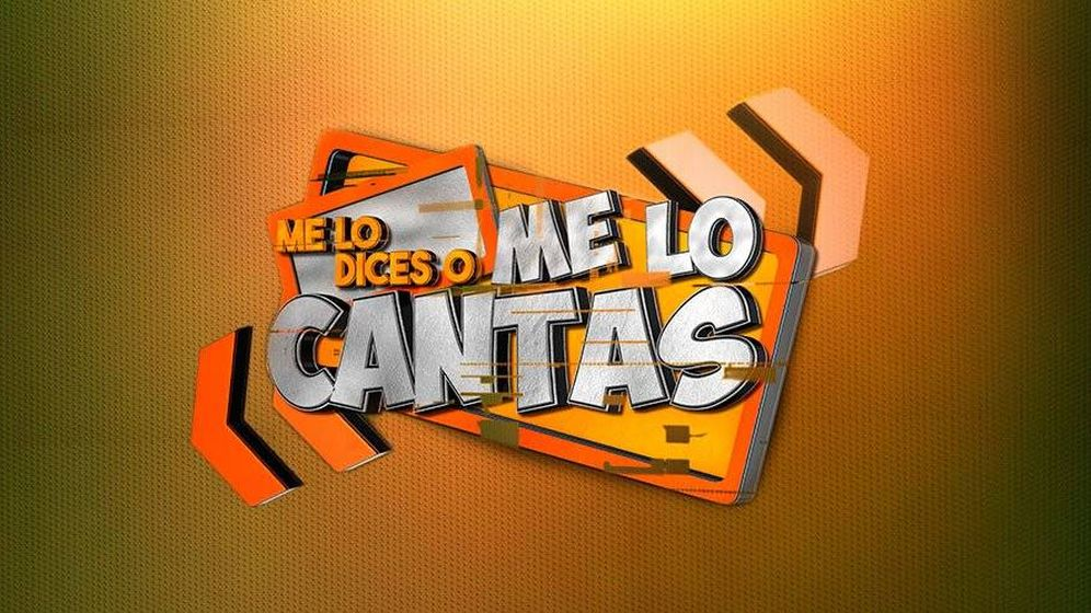 Foto: Logotipo de 'Me lo dices o me lo cantas', el nuevo espacio de Jesús Vázquez. (Mediaset)