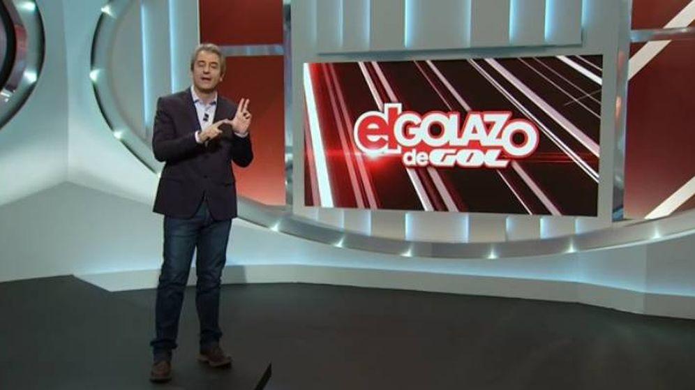 Foto: Manolo Lama se acuerda de la competencia en su estreno en 'El Golazo de Gol'