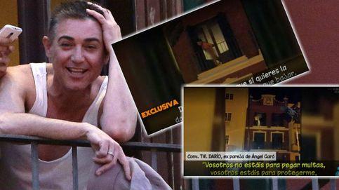 Ángel Garó, desnudo y a gritos con la policía: A mí me pagan por verme