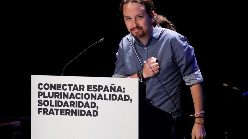 Foto: Pablo iglesias, en la jornada 'Conectar España: plurinacionalidad, solidaridad, fraternidad'. (EFE)