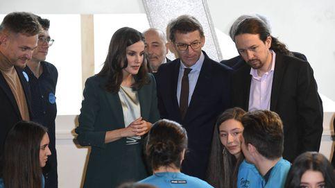 ¿Le está lanzando un mensaje Letizia a Pablo Iglesias con su look en su encuentro?