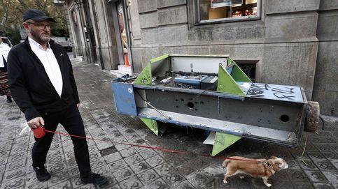 Destrozos en Barcelona tras los incidentes