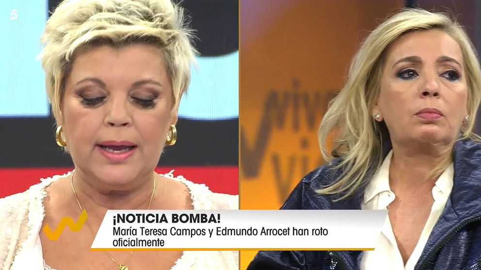 Carmen Borrego abandona el plató de 'Viva la vida' tras la ruptura de su madre