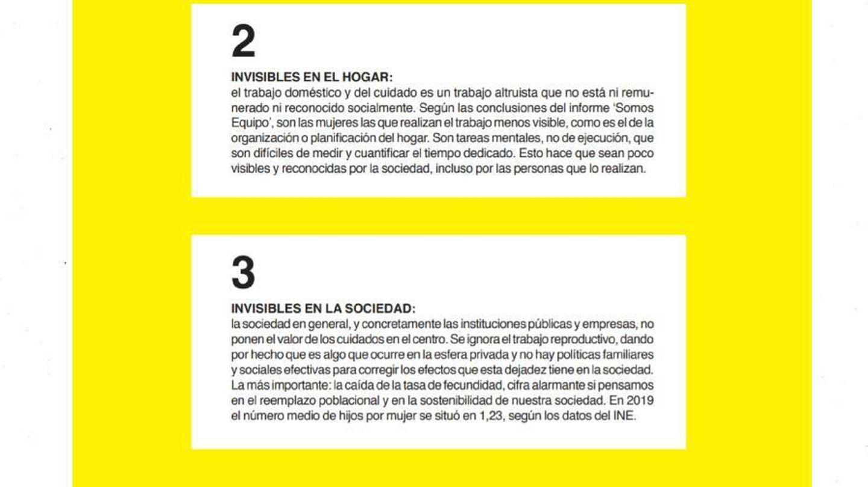 Datos del estudio 'Las invisibles' de la plataforma #YoNoRenuncio