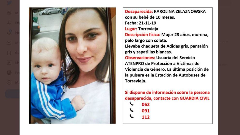 Desaparecen en Torrevieja una mujer víctima de violencia machista y su bebé