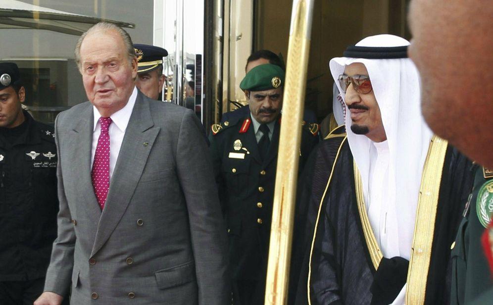 Foto: El rey Juan Carlos y el rey Abdulá. (EFE)