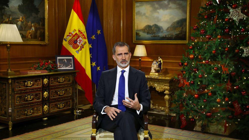 Foto: Felipe VI, durante su discurso de Nochebuena. (EFE)
