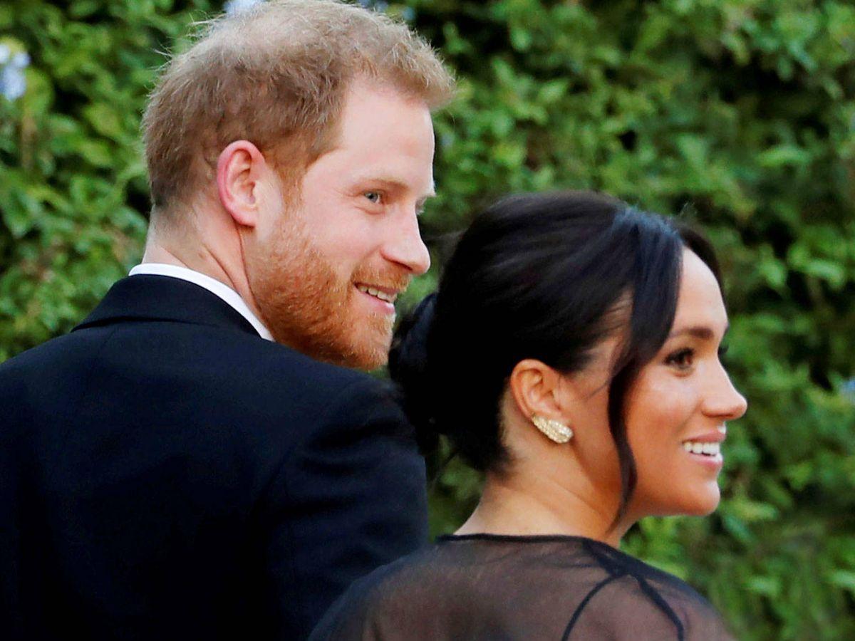 Foto: El príncipe Harry y Meghan Markle, en la boda de Misha Nonoo. (Reuters)