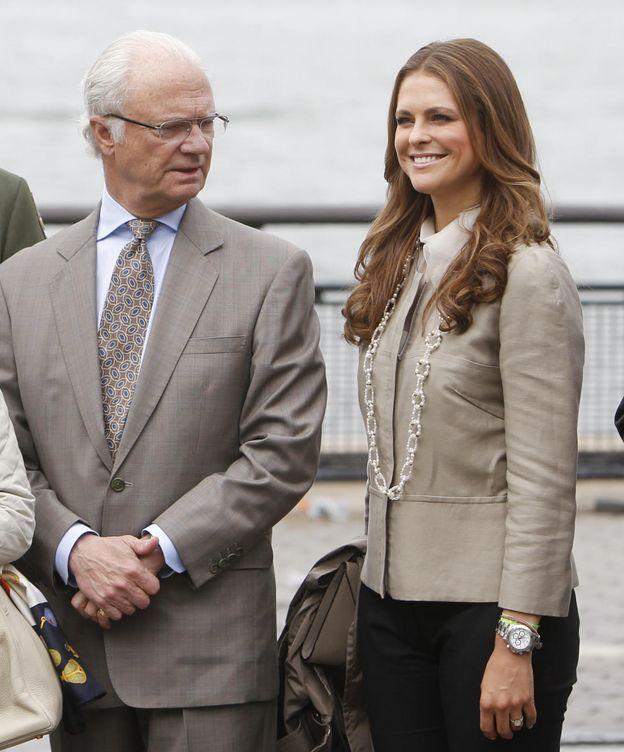Foto: El rey de Suecia y la princesa Magdalena en una imagen de archivo (Gtres)
